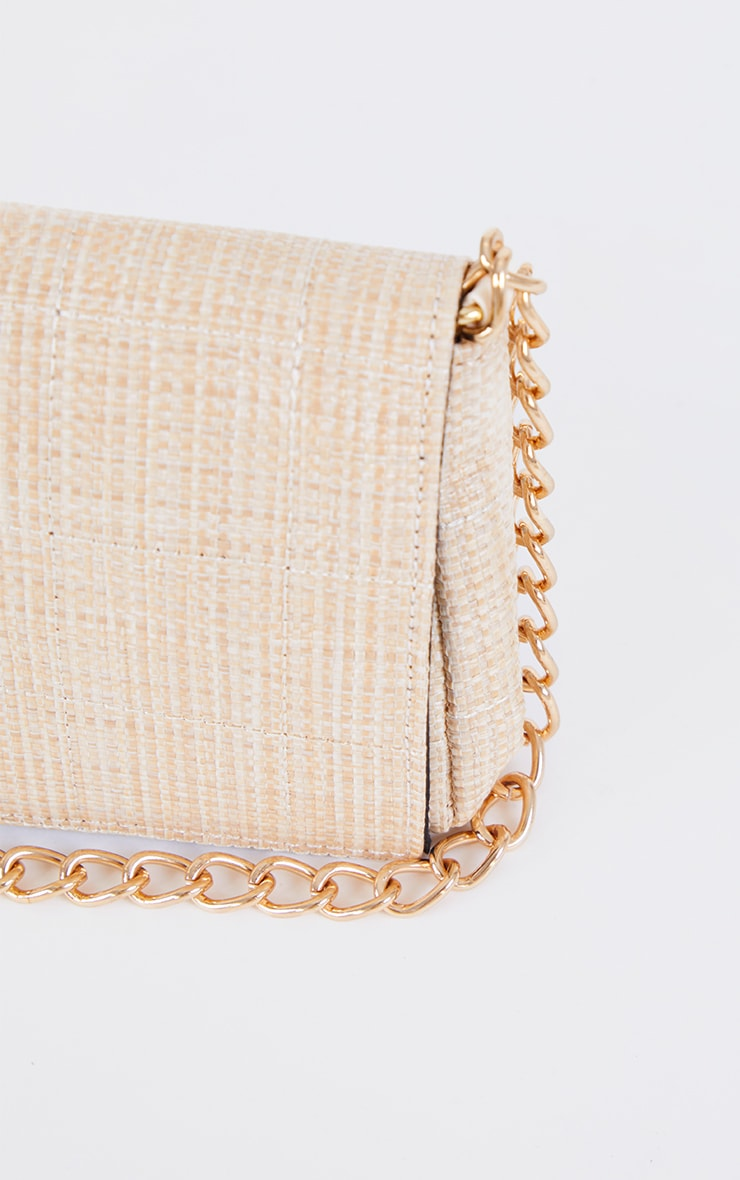 Sand Weave Quilted Cross Body Bag 4