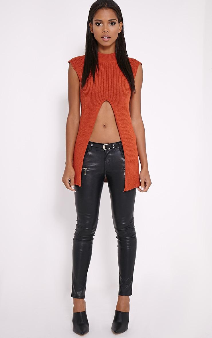 Nathalie Black Embroidered Skinny Belt 4