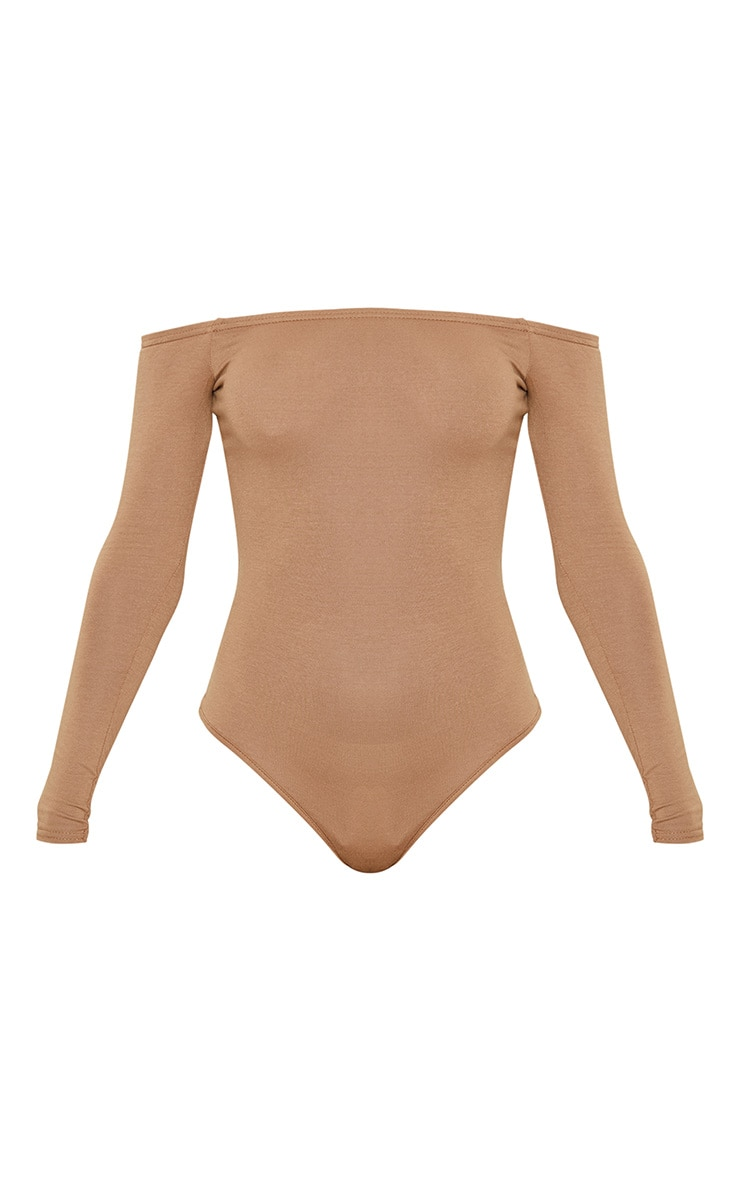 Basic Camel Bardot Bodysuit 3
