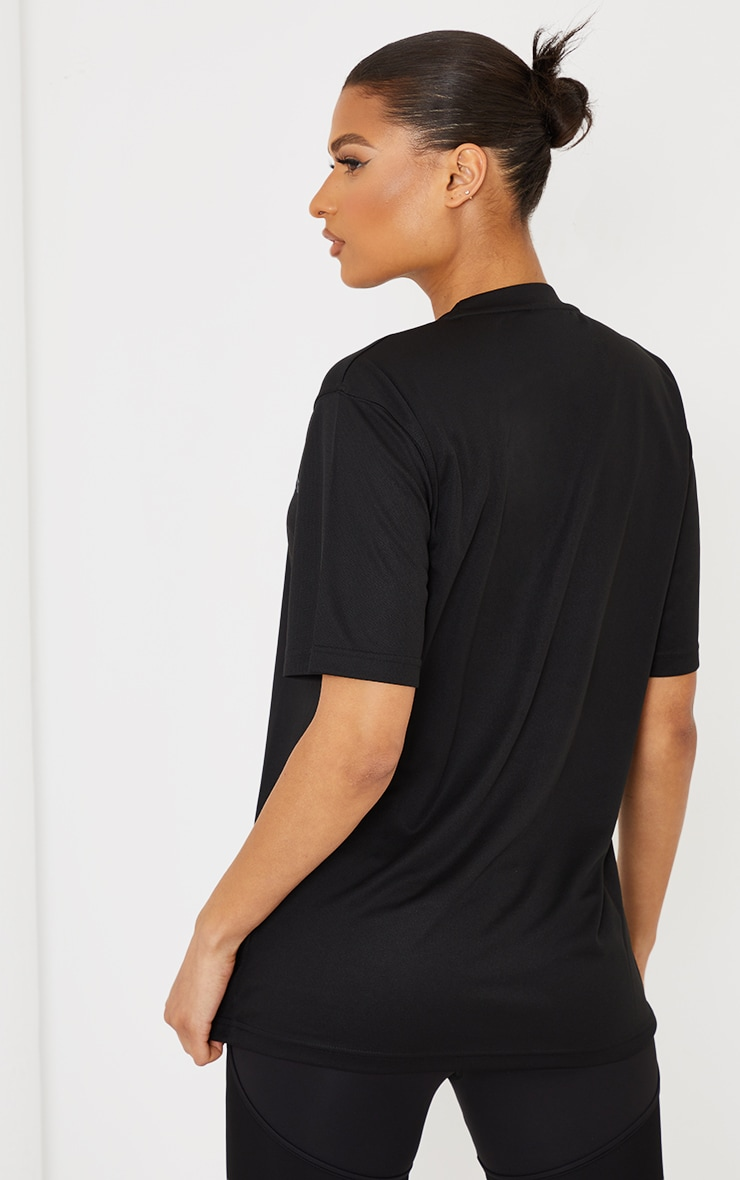 PRETTYLITTLETHING Black Oversized Training T-Shirt 2