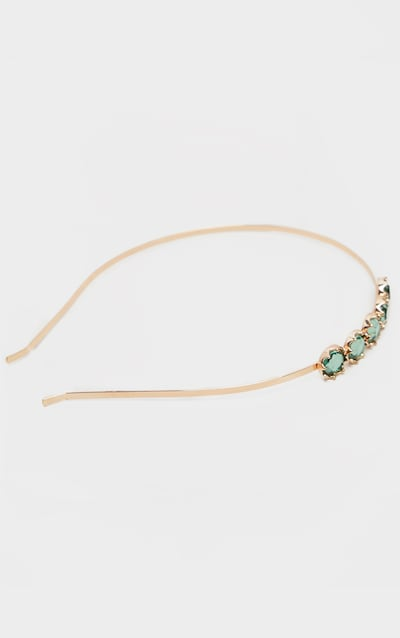 Emerald Green Crystal Headband