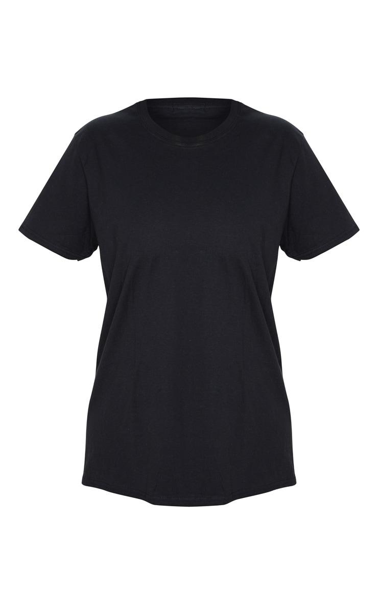 PRETTYLITTLETHING Black Slogan Back T Shirt 5