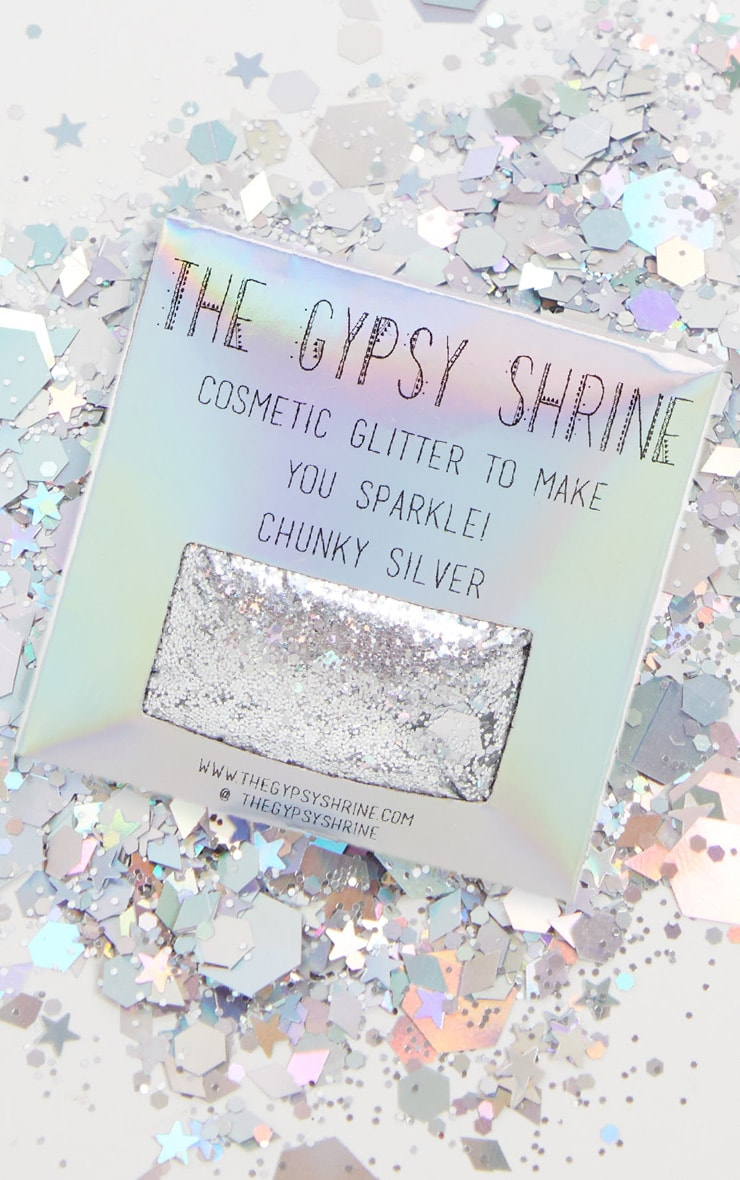 The Gypsy Shrine Chunky Silver Glitter Bag