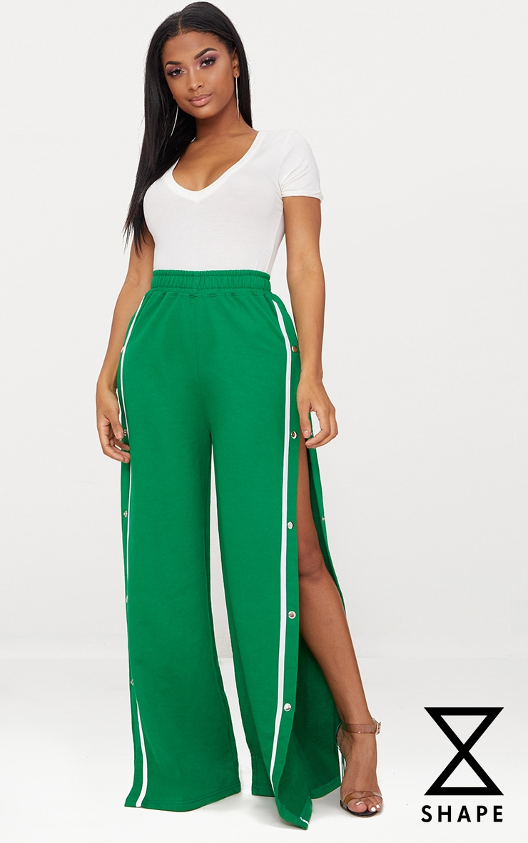 Shape Bright Green Popper Joggers 1