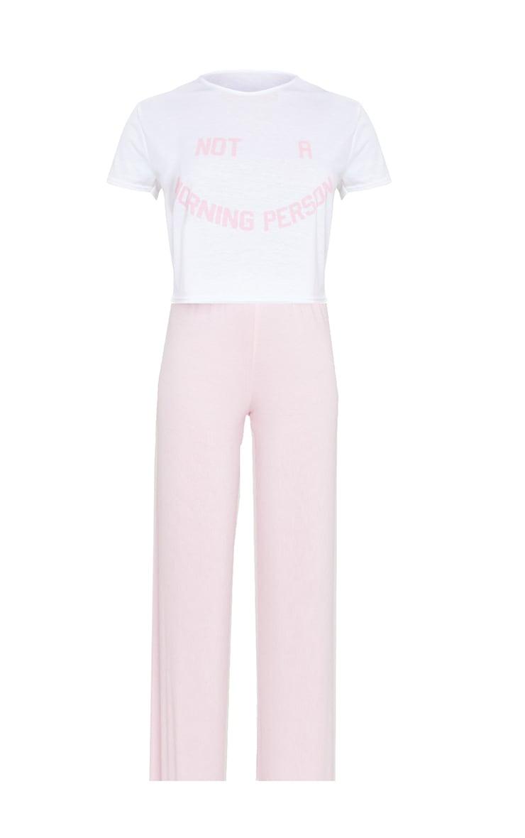 Ensemble de pyjama rose ample à imprimé Not A Morning Person 5