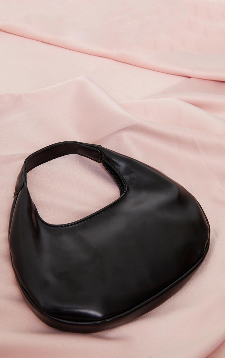 Black Mini Crescent Shoulder Bag 1