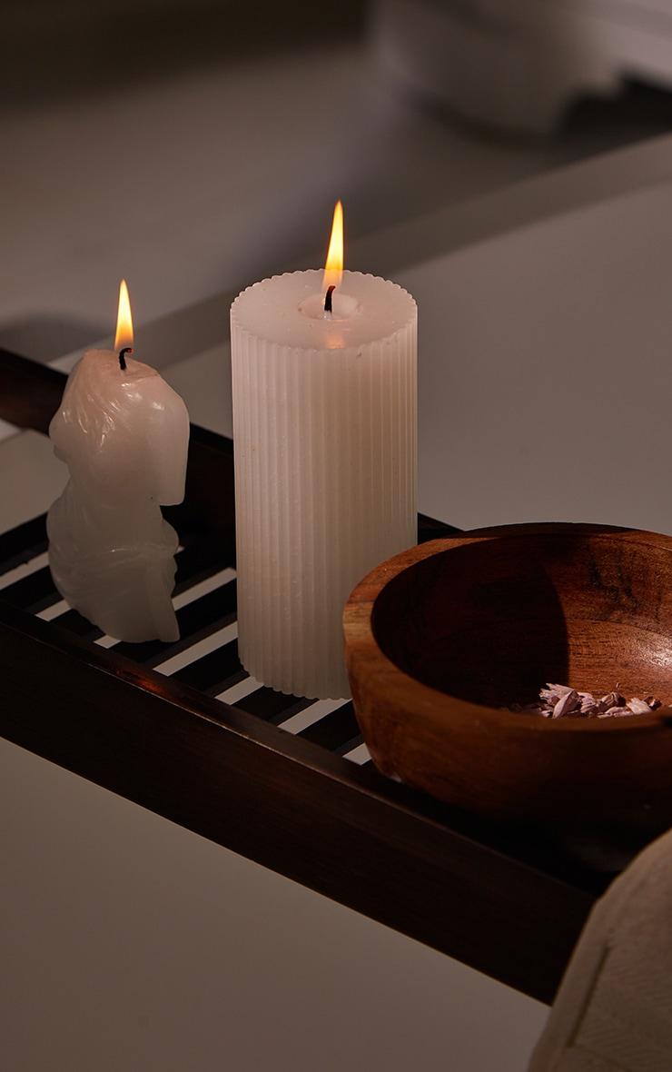 PRETTYLITTLETHING White Large Jasmine Scented Pillar Candle 2
