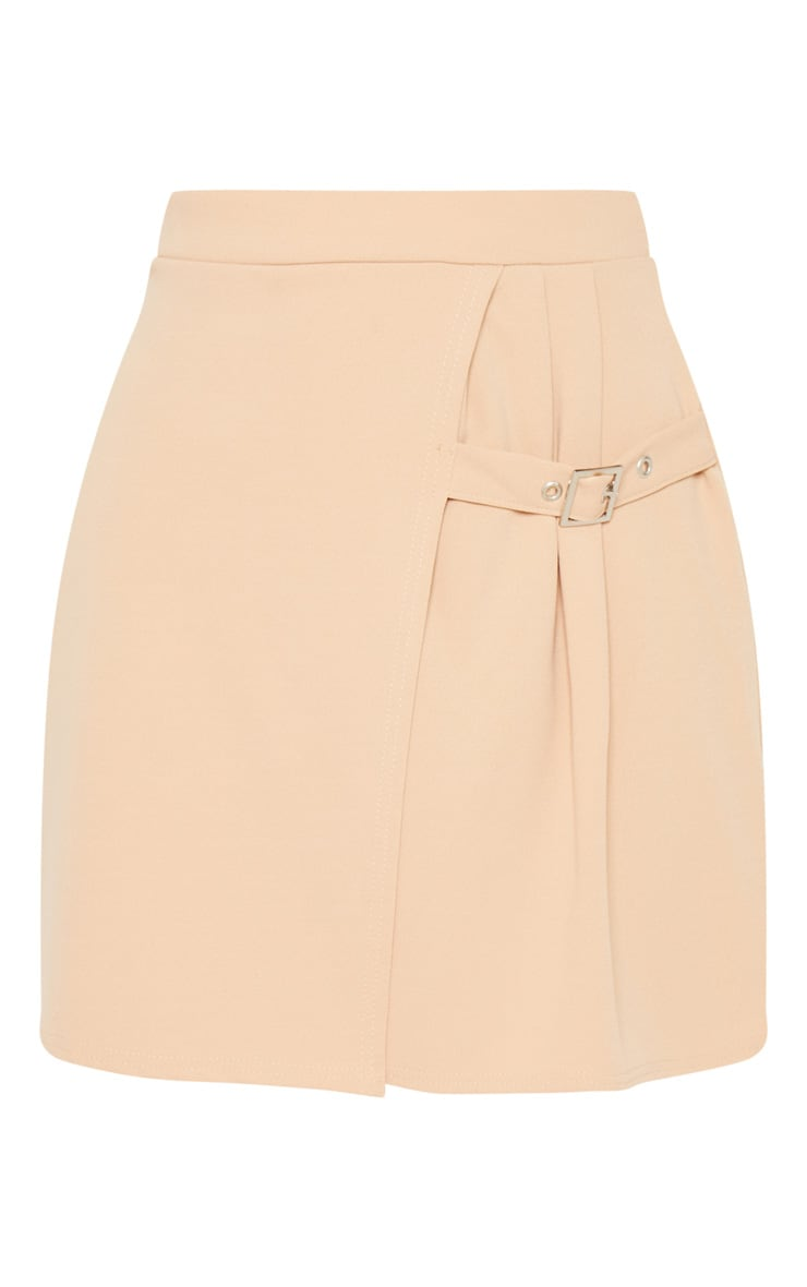 Deep Stone Buckle Detail Skater Skirt 3