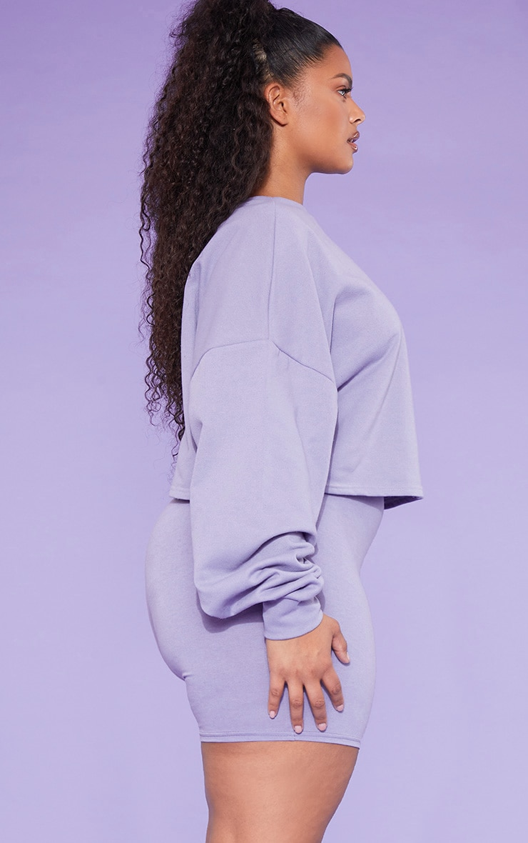 RECYCLED Plus Violet Crop Sweater 2