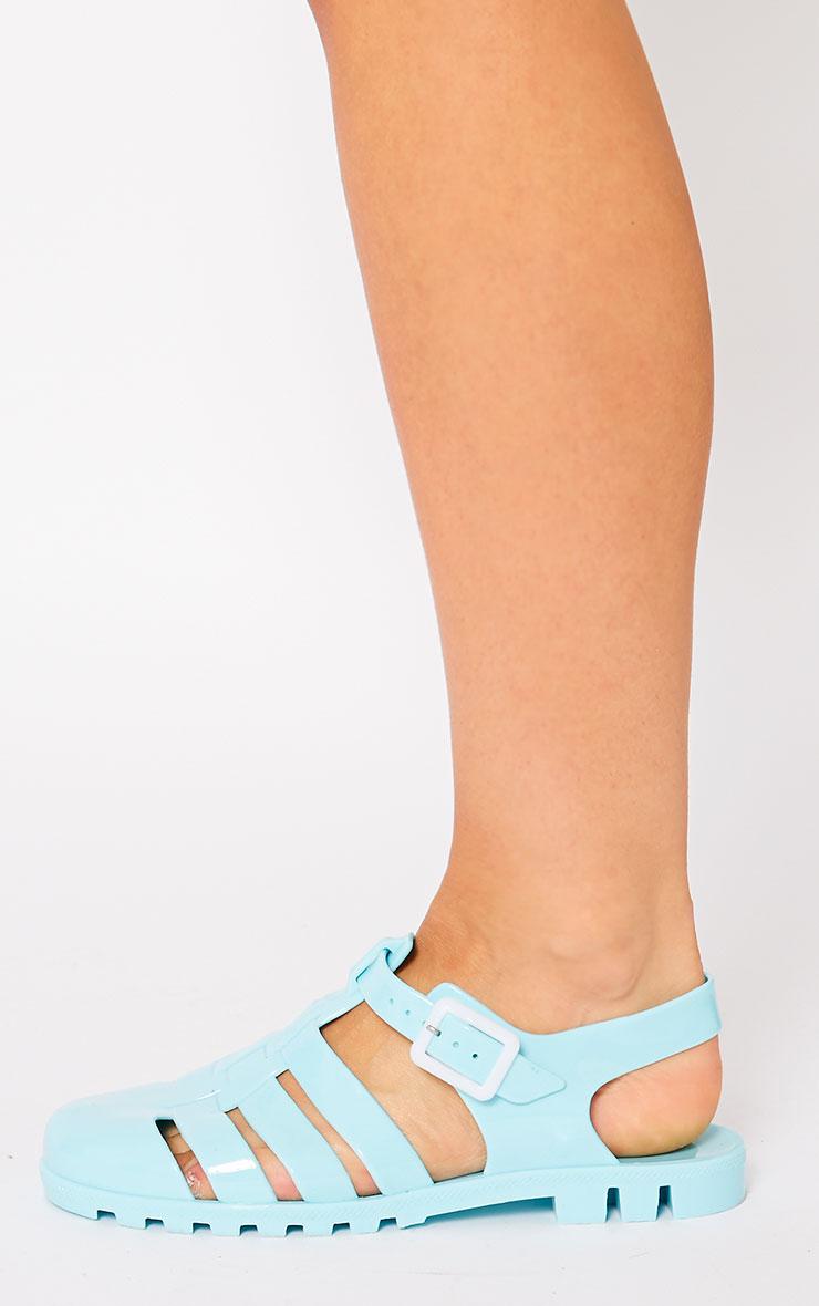 Raida Mint Flat Jelly Sandals 4