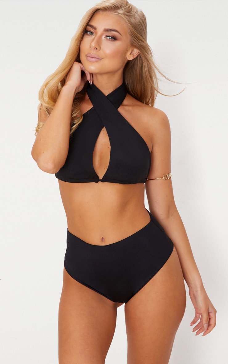 Black Mix & Match Multi Way Bikini Top
