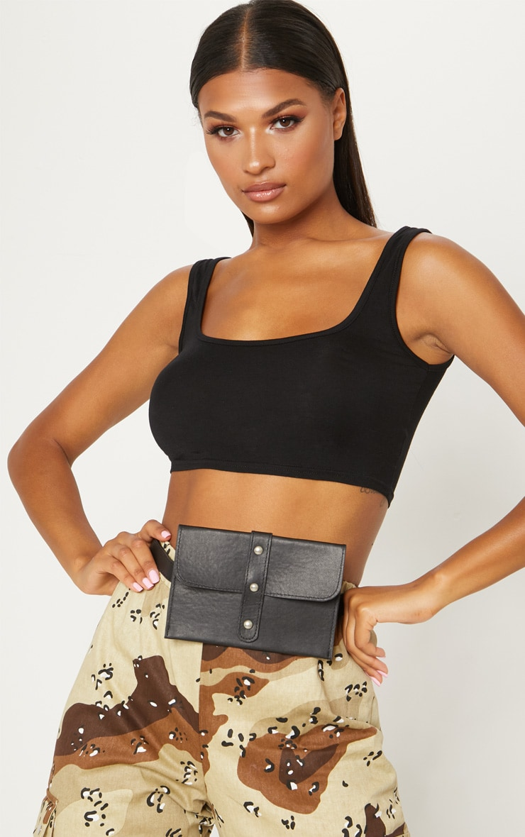 Black Stud Belt Bag