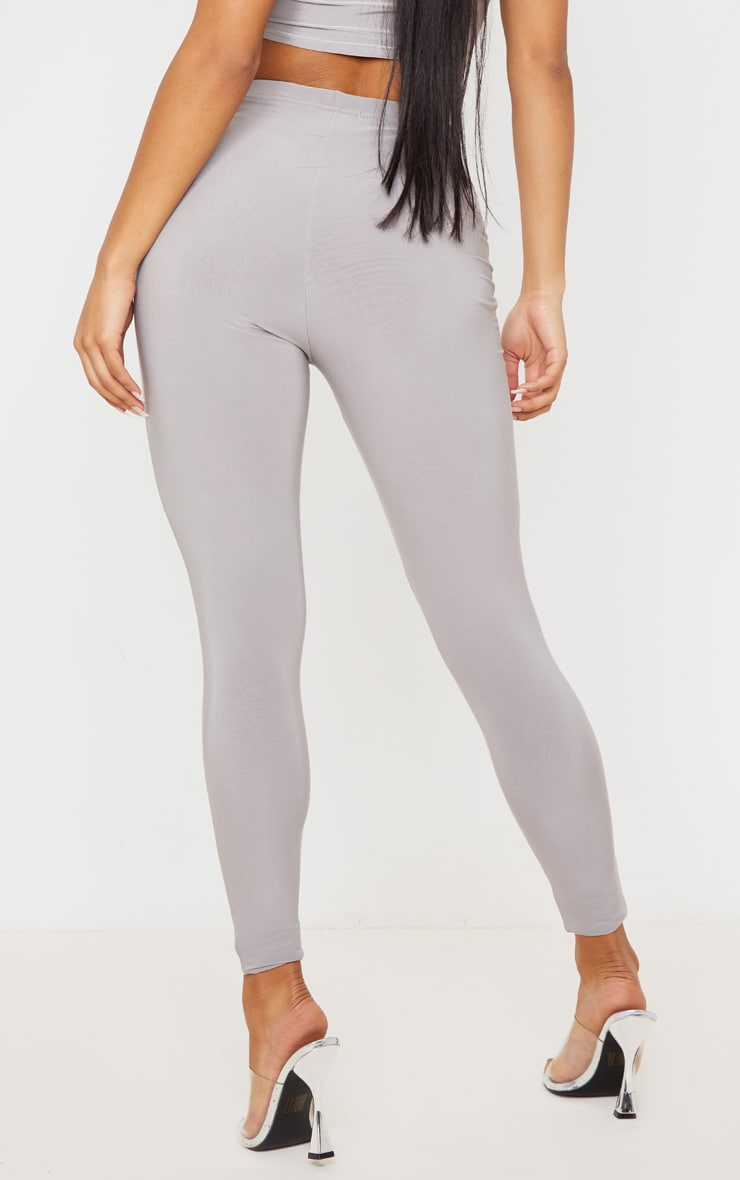 Grey Slinky High Waisted Legging 4