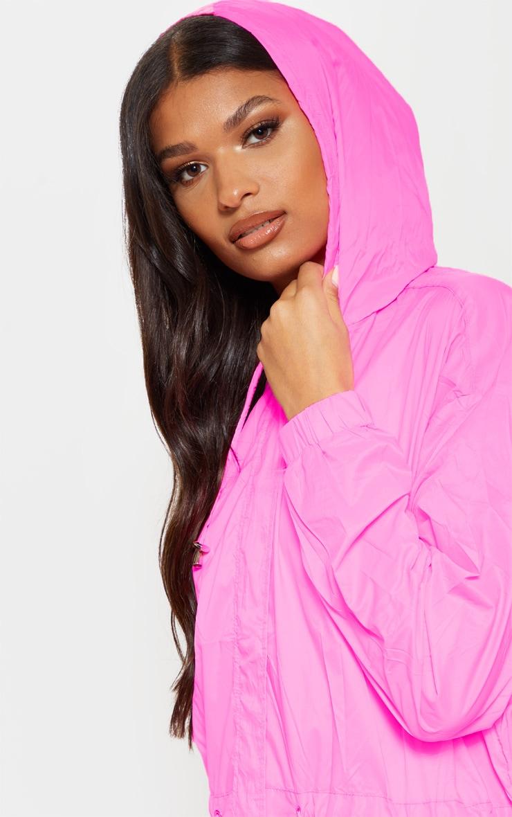 Pink Longline Rainmac 5