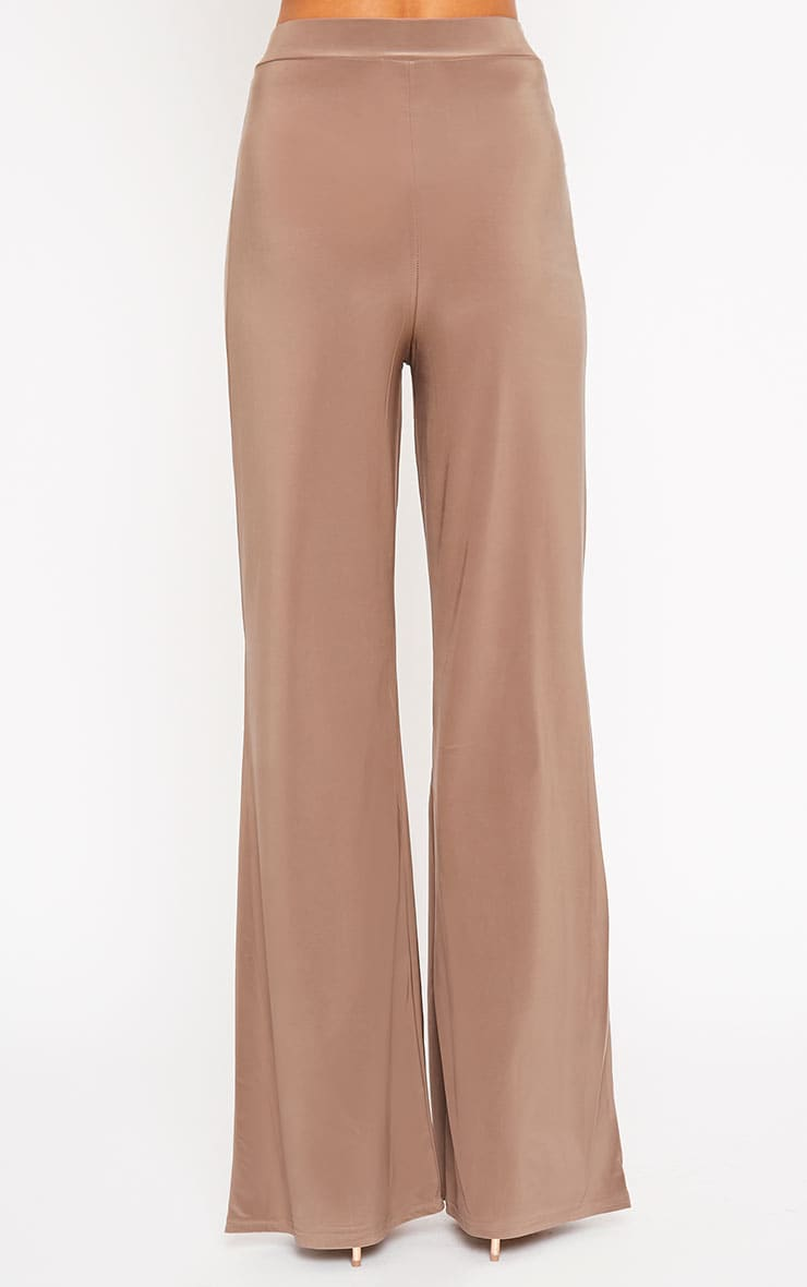 Remi Mocha Soft Touch Wide Leg Trousers 4