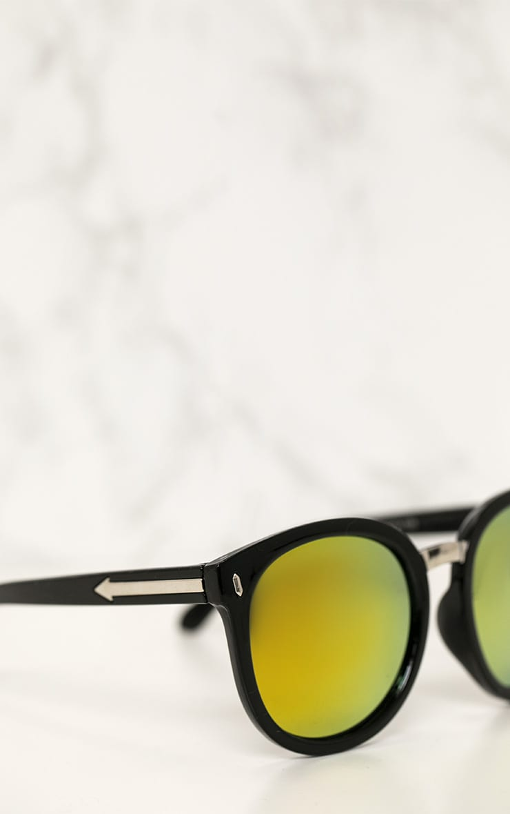 Gold Mirrored Rounded Sunglasses 3