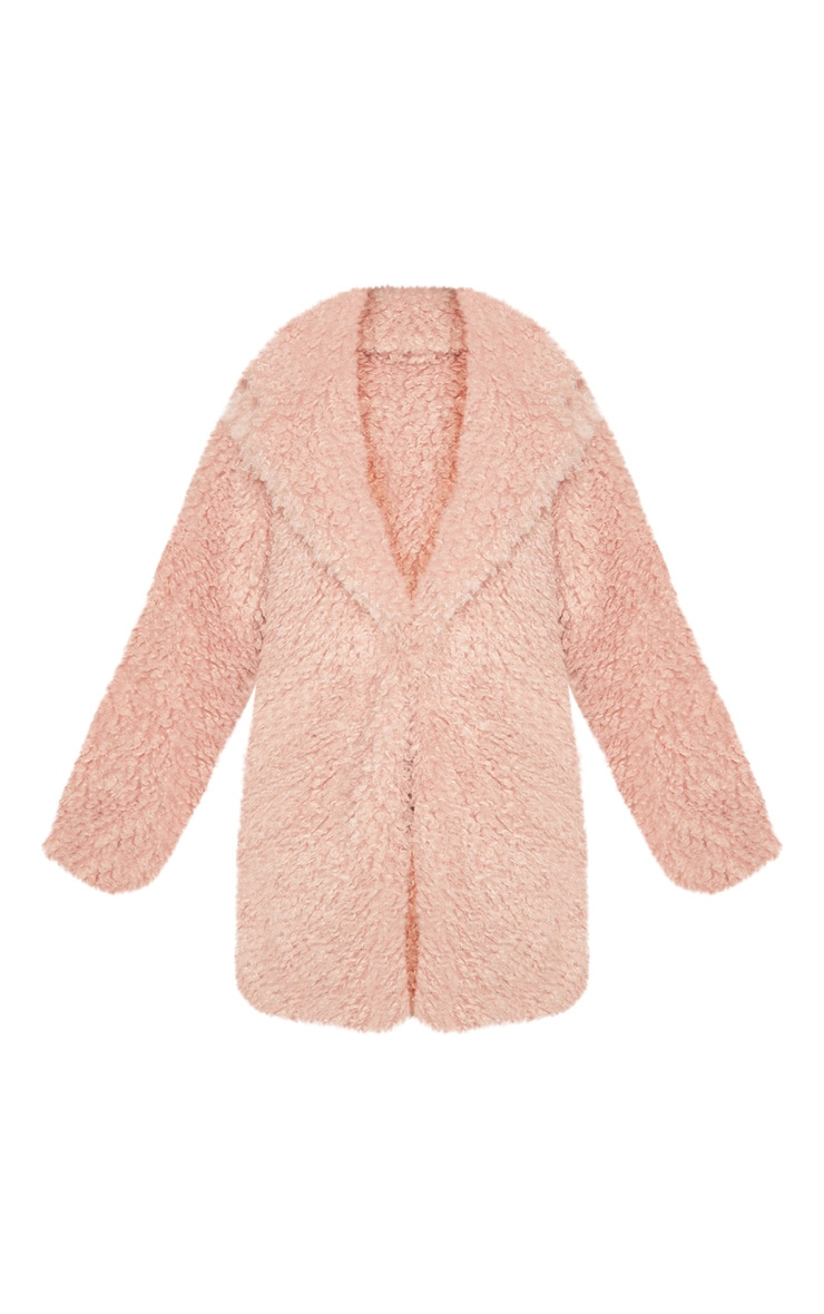 Pink Teddy Faux Fur Coat   3