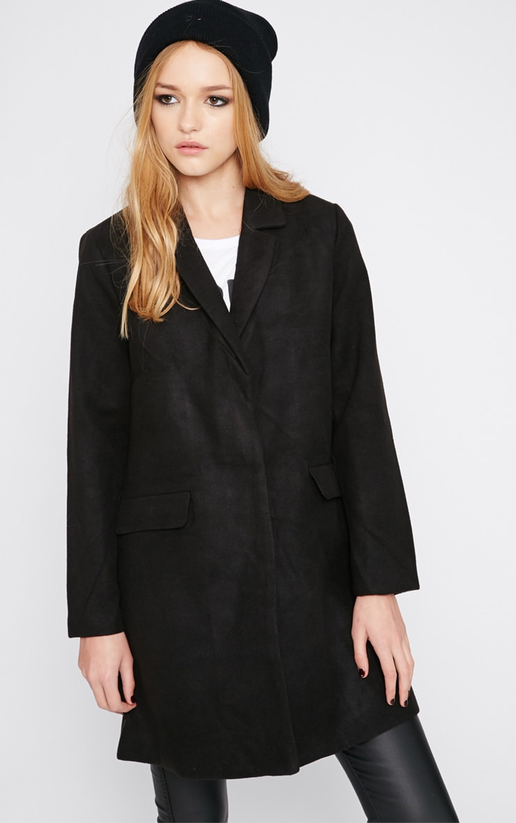 Emmie Black Boyfriend Coat  4