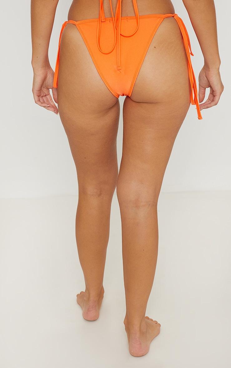 Orange Mix & Match Tie Side Bikini Bottom 4