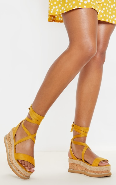 82f01259c Yellow Niella Espadrille Flatform Sandals. More colours available