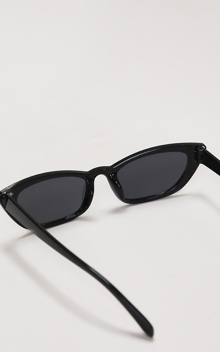 Black Diamante Trim Cat Eye Sunglasses 4