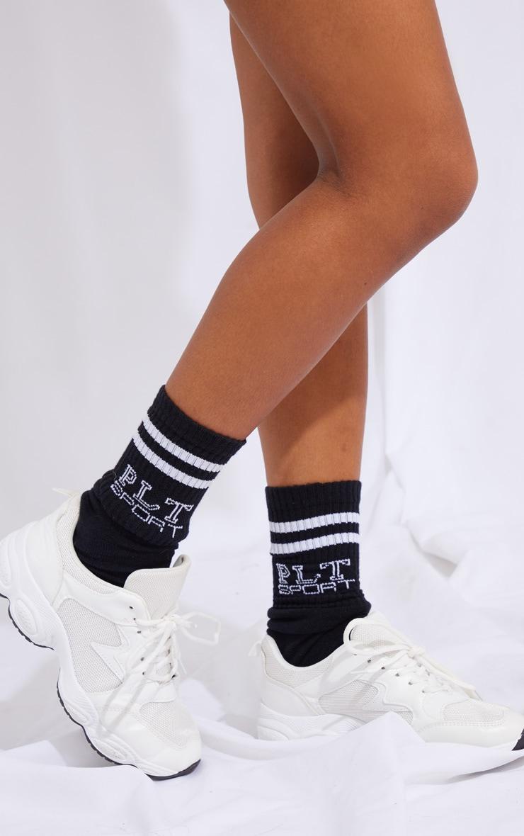 PRETTYLITTLETHING Black Sport Socks 1