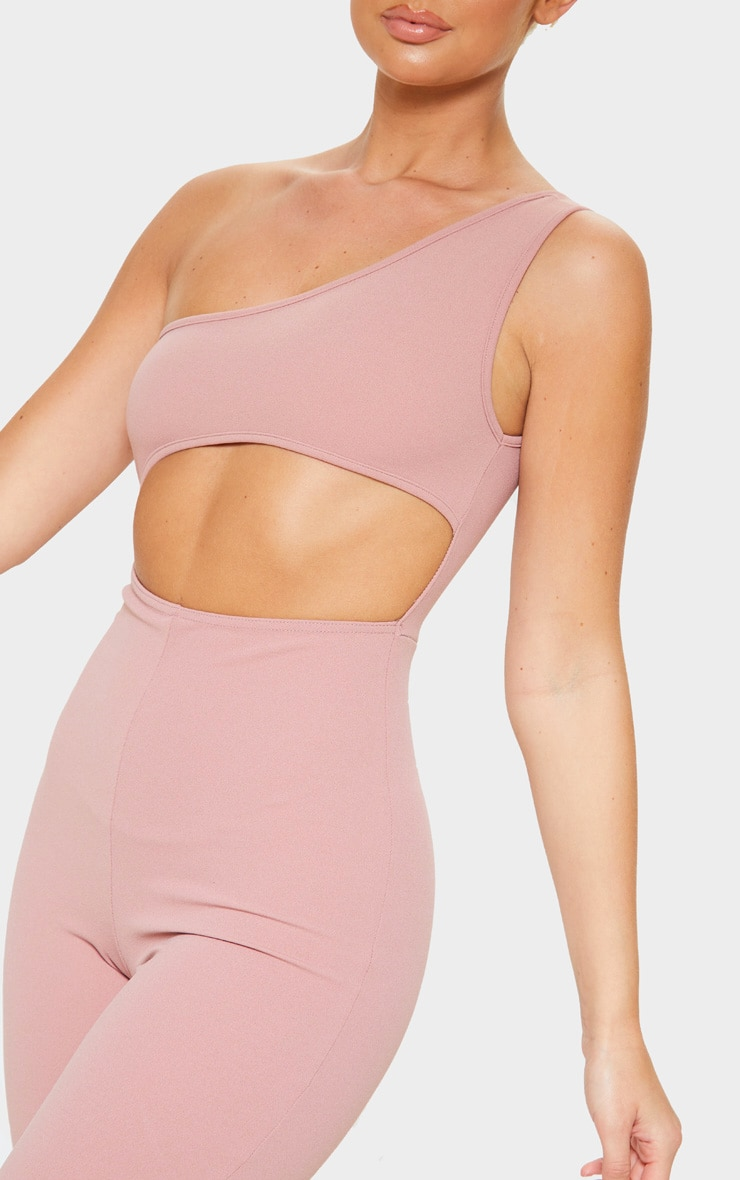 Rose One Shoulder Cut Out Detail Jumpsuit 5