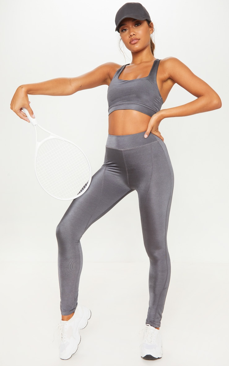 Charcoal High Waisted Sports Legging 1