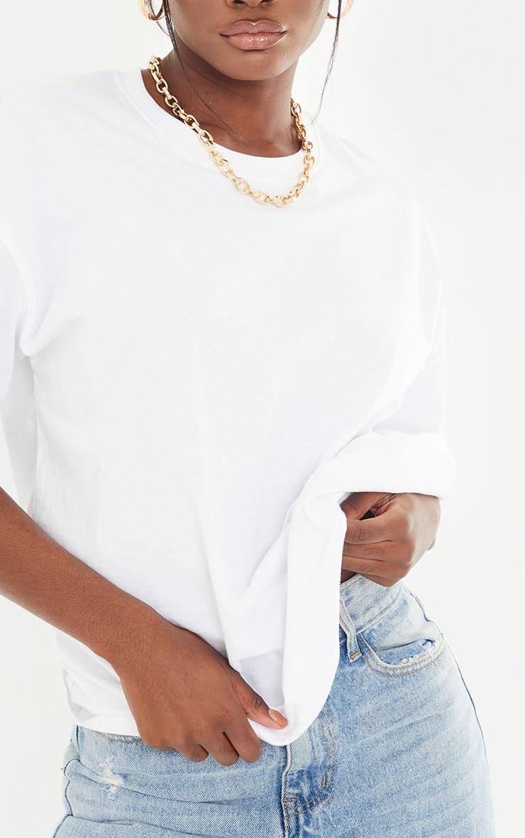 Tall White Oversized Boyfriend T Shirt 4