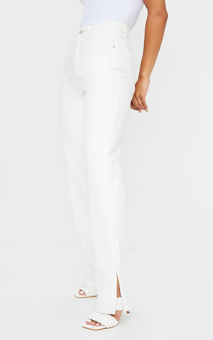 Off White Split Hem Jeans 2
