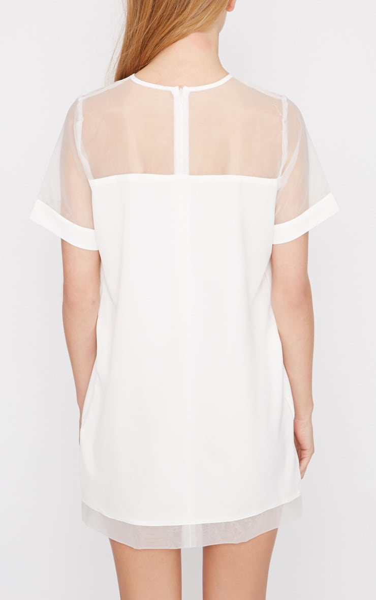 Brogan Cream Mesh Tshirt Dress  2