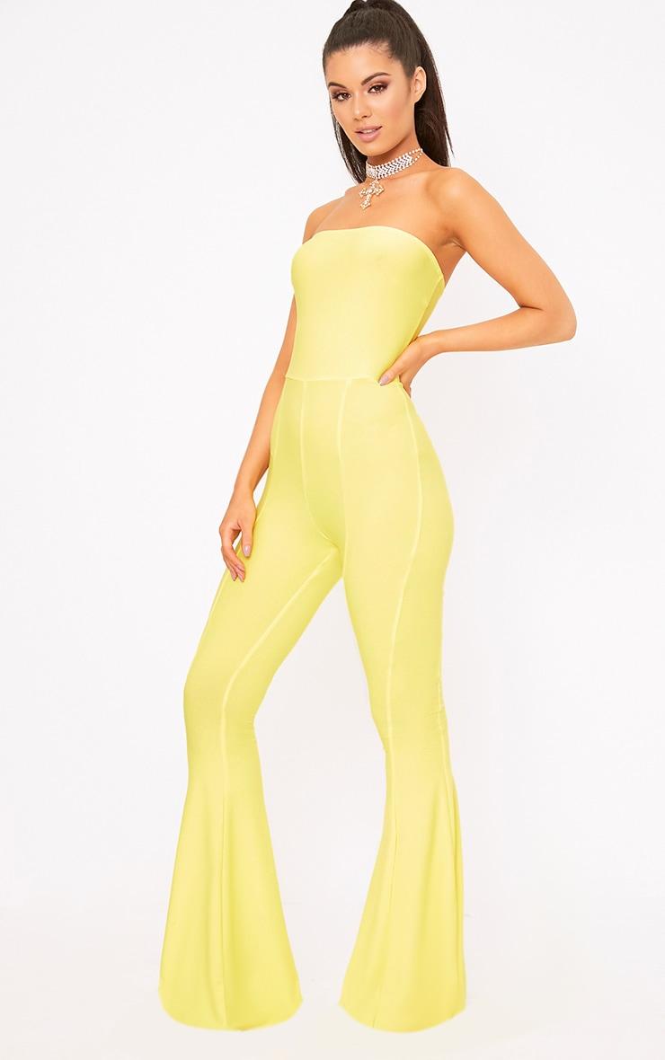 Yellow Bandeau Wide Leg Jumpsuit 4