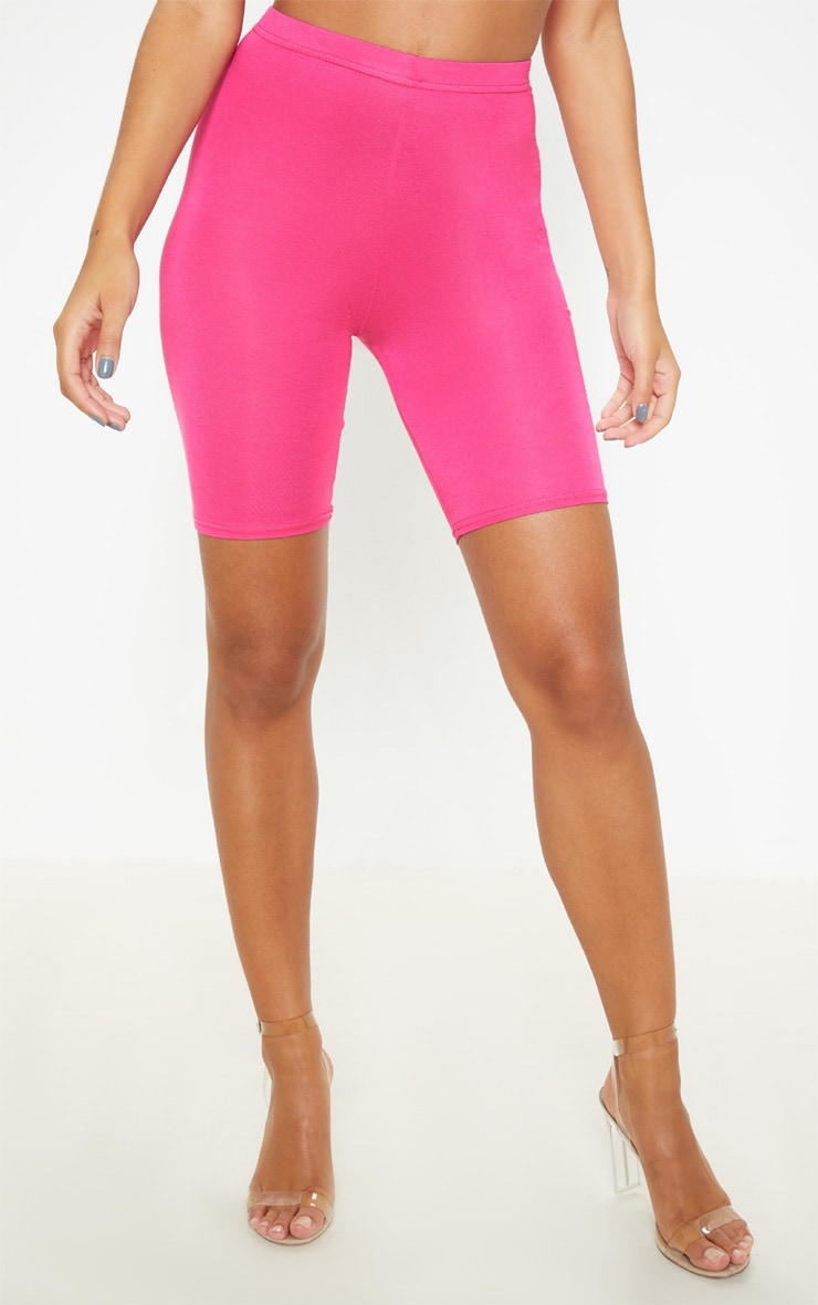 Fuchsia Basic Bike Shorts 2