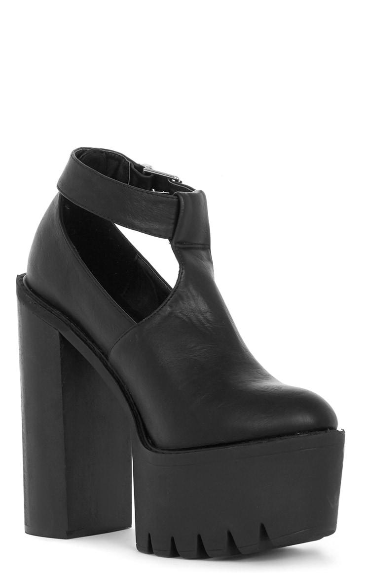 Felicia Black Chunky Heel Ankle Strap Sandal 2