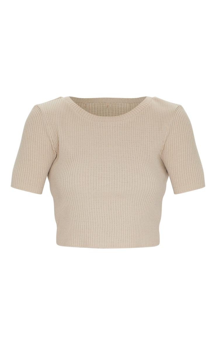 Stone Short Sleeve Knitted Tee 5