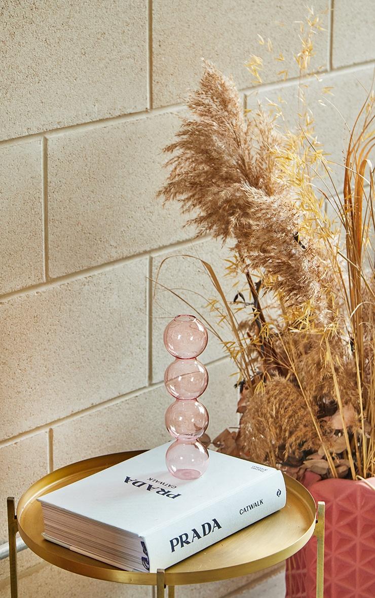 Pink Bobble Glass Vase 1