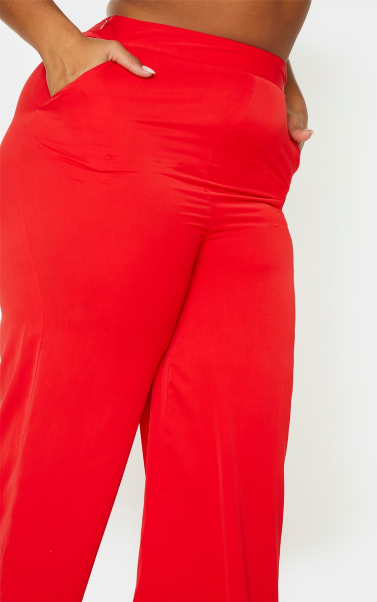 Plus Red Extreme Wide Leg Trouser 5