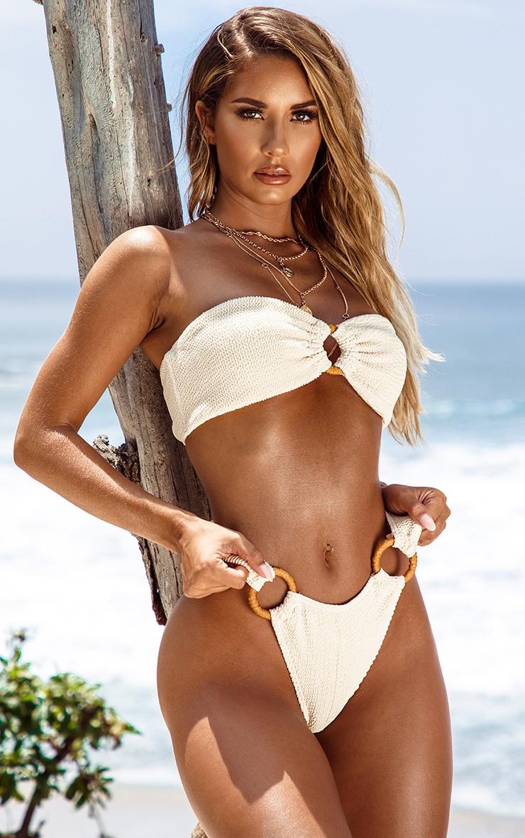 Sand Ring Detail Crinkle Bikini Bottom 6