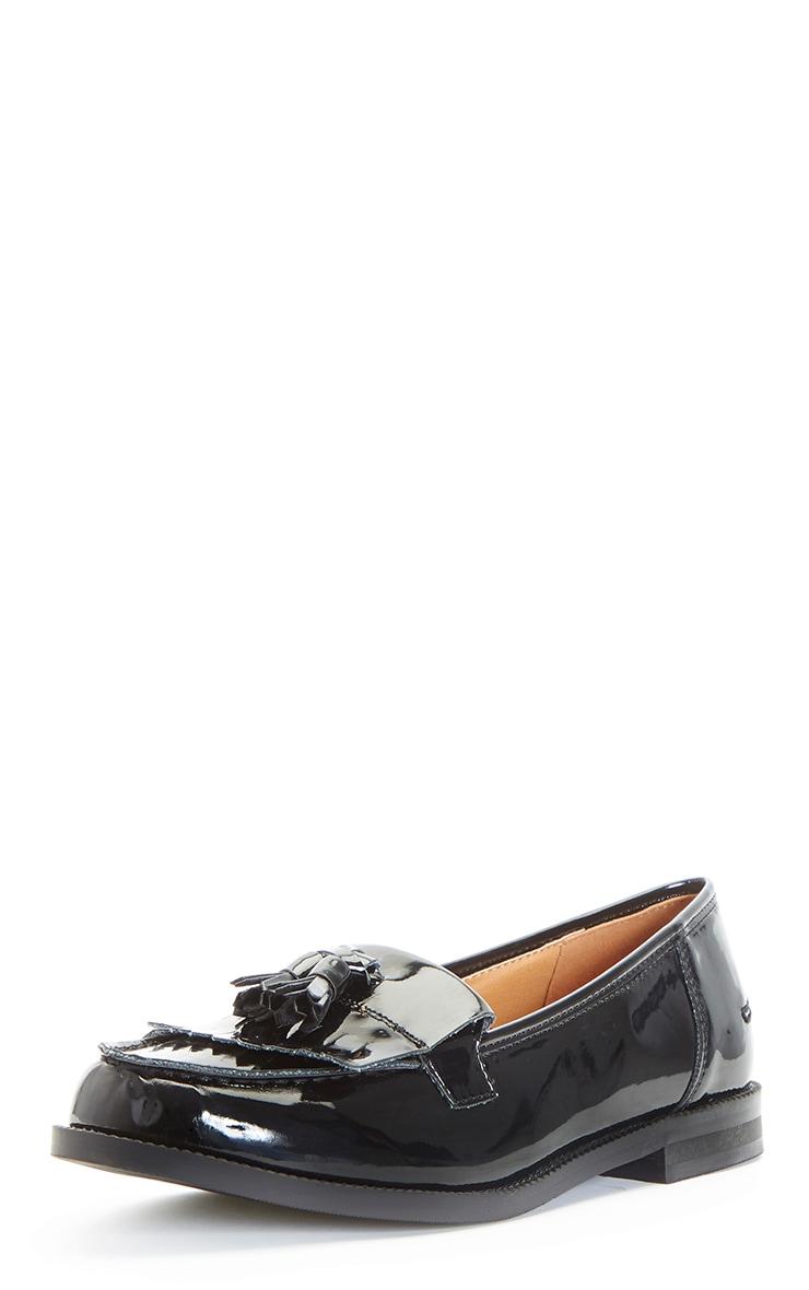 Rita Black Patent Loafer 4