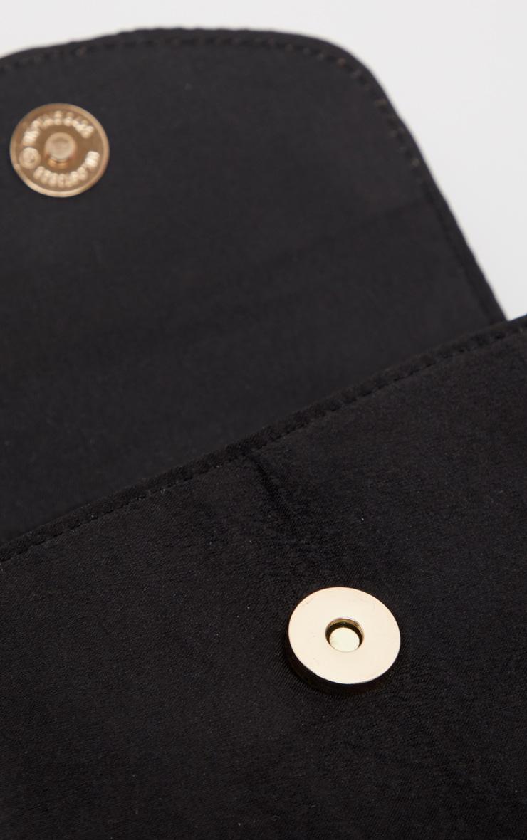 Black Single Handle Chain Belt Bag 4