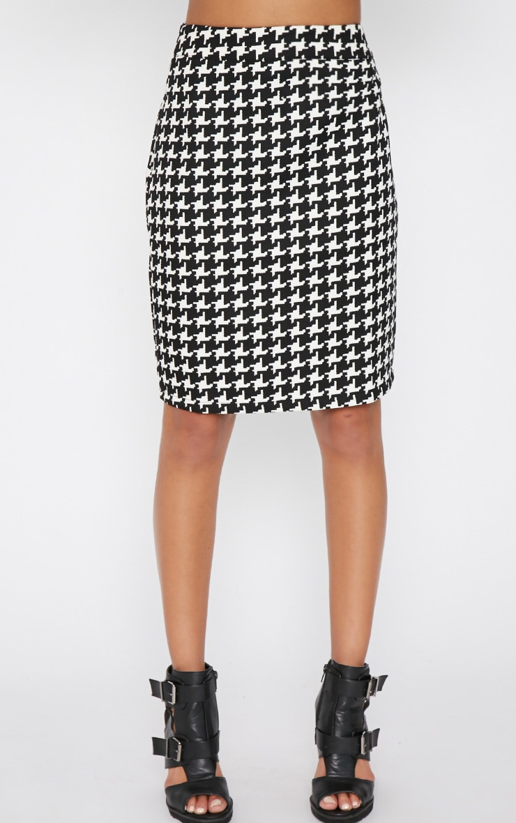 Loreto Monochrome Dogtooth Skirt 5