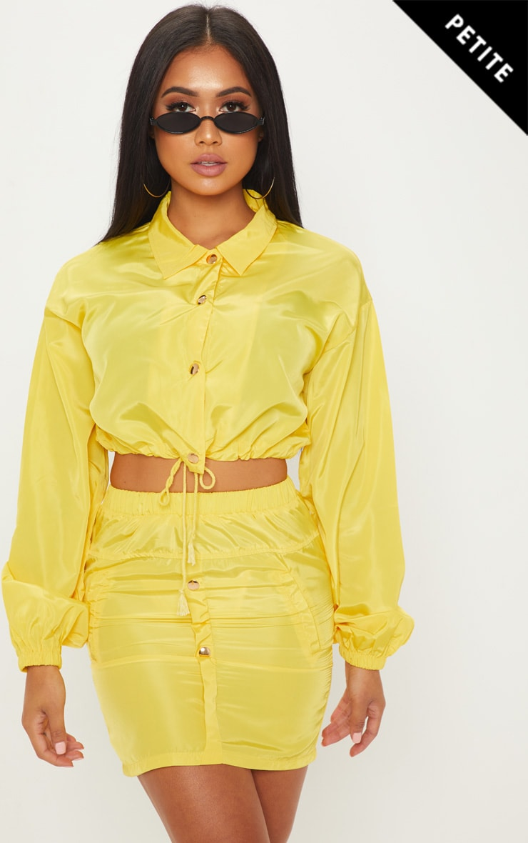 Petite Neon Yellow Shell Suit Jacket
