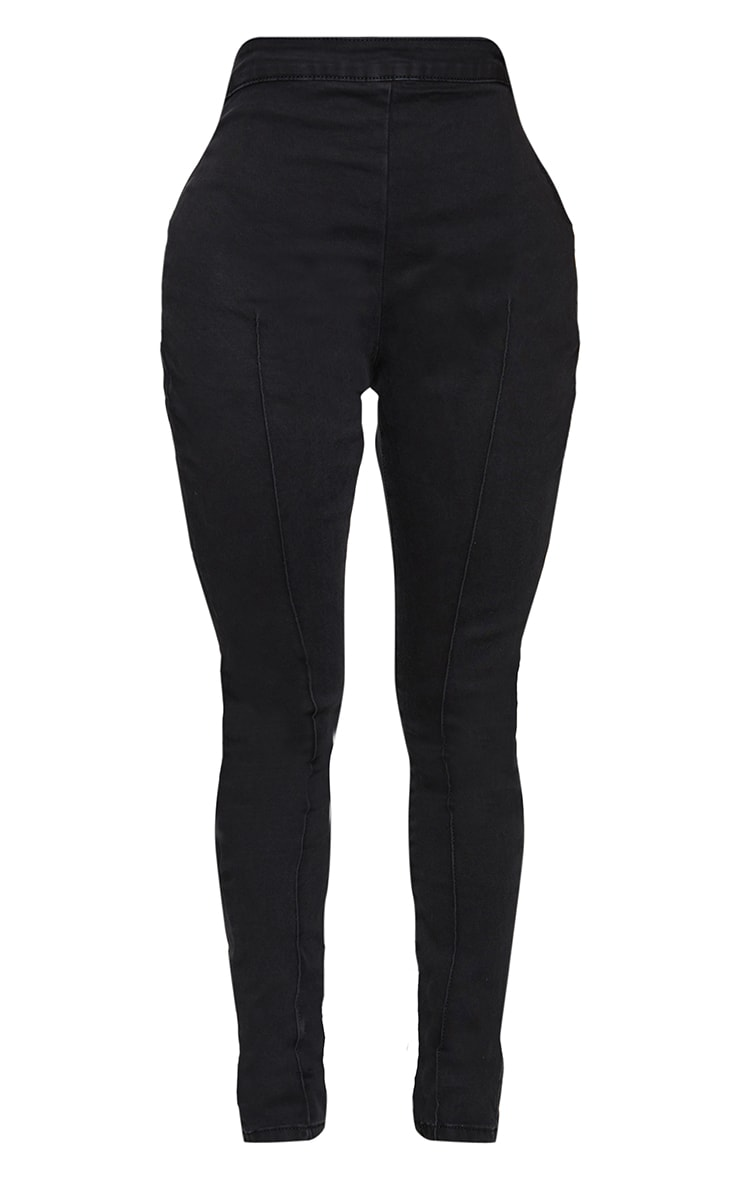 Shape Black Seam Detail Zip Side High Waist Skinny Jeans 5