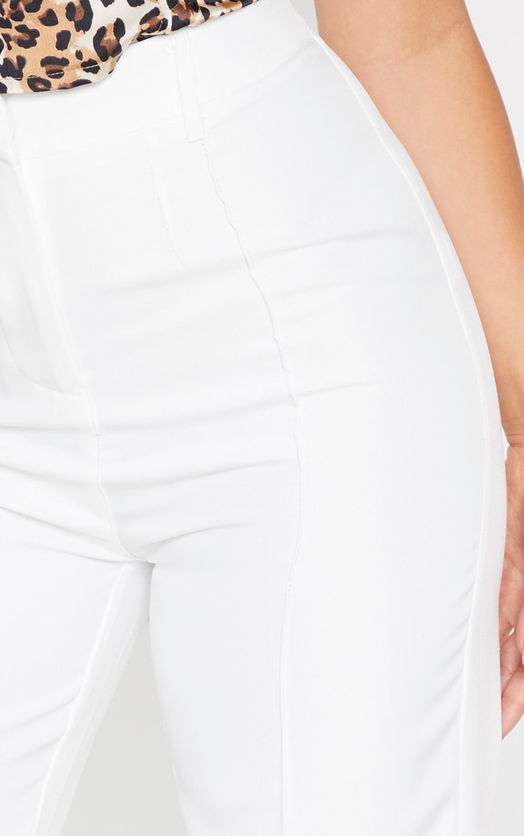 Petite White High Waist Straight Leg Trouser 5