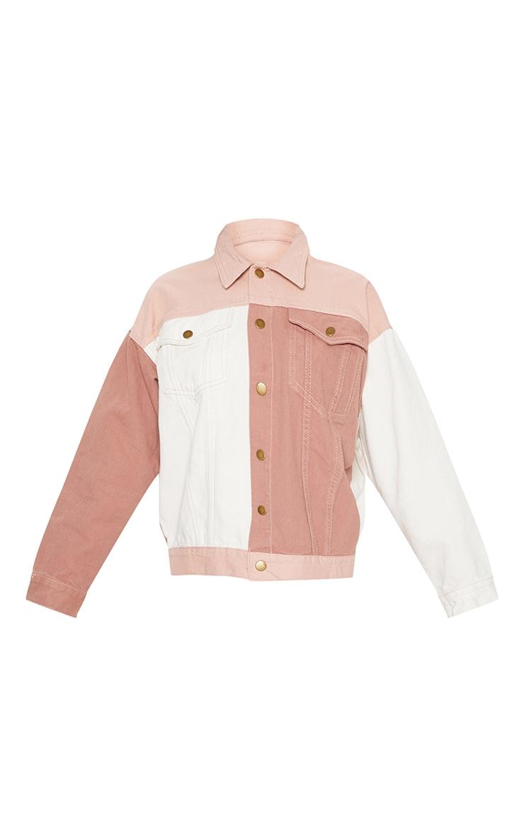 Nude Colour Block Denim Jacket  3