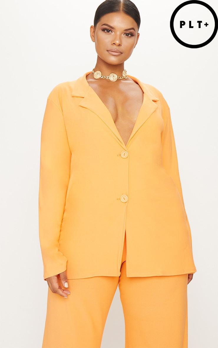 Plus Tangerine Oversized Blazer 1