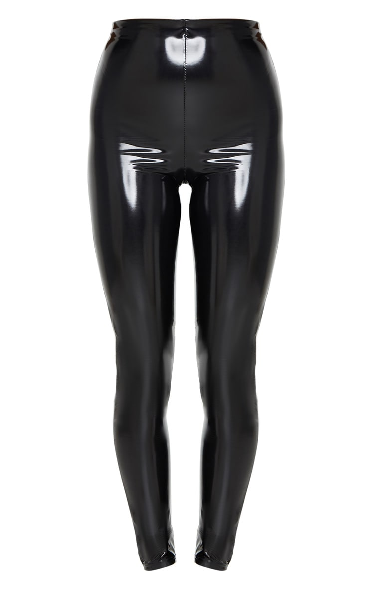 Black Vinyl Skinny Pants 5