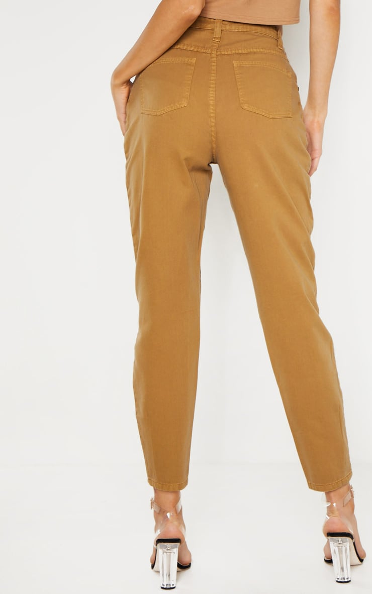 Tall Camel Denim Mom Jeans 4