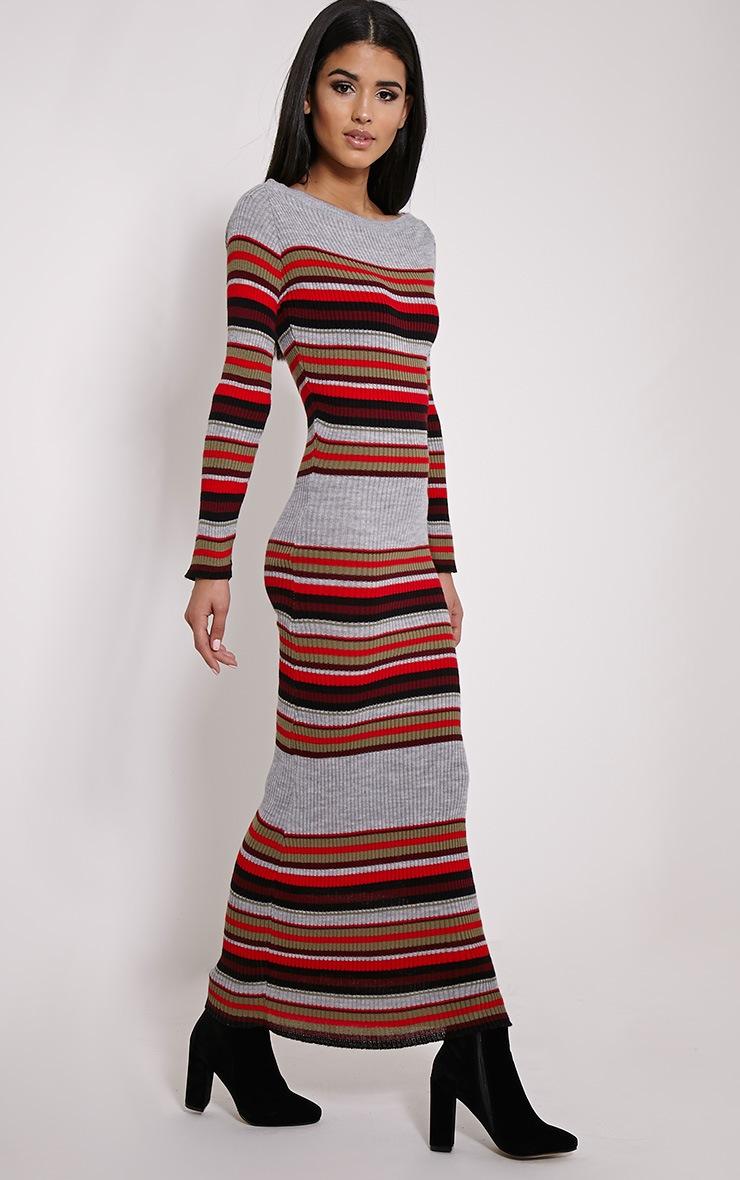 Salima Multi Stripe Rib Knit Jumper Dress 3