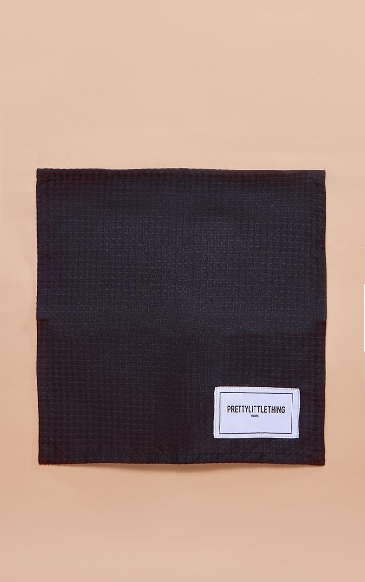 PRETTYLITTLETHING Home - Gant de toilette en maille gaufrée noire 3